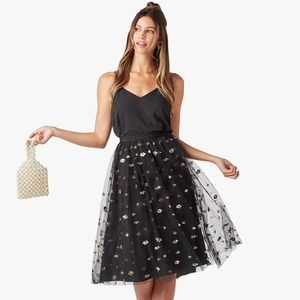 Cupcakes and Cashmere Sequin Tulle Scarlet Skirt
